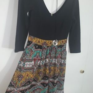 Anthropologie Maeve Fit & Flare Tribal Dress
